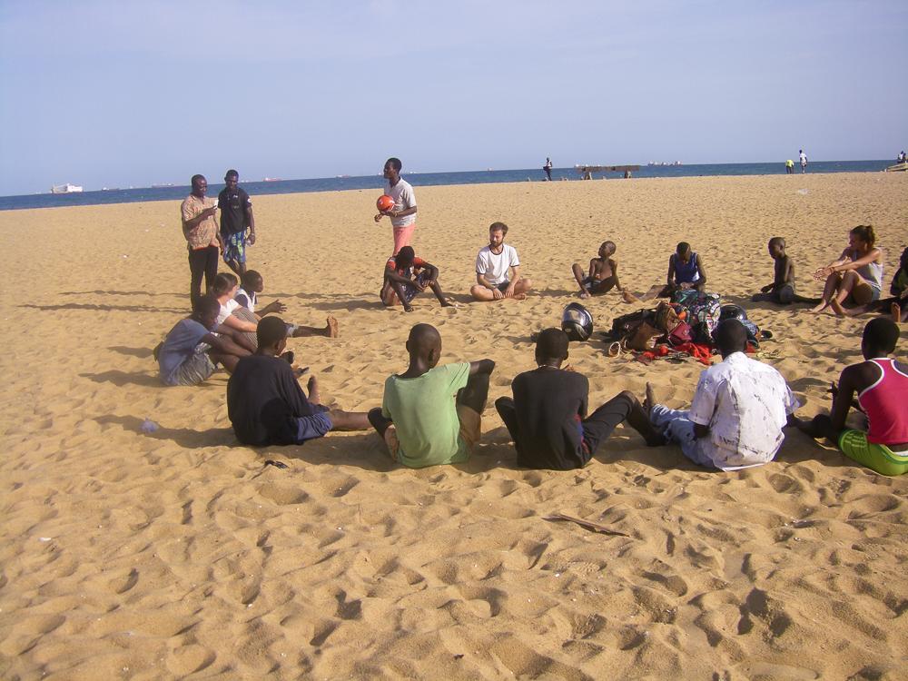 Spelletjes met het strandproject.